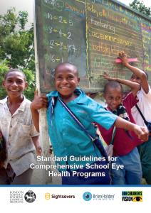 Standard Guidelines for Comprehensive School Eye Health Programs