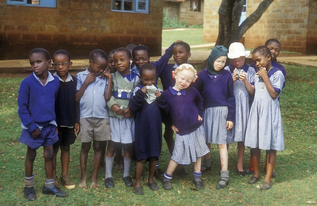 Children in a school for the blind. KENYA