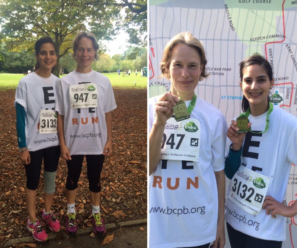 Robin and Priya - BCPB Half Marathon