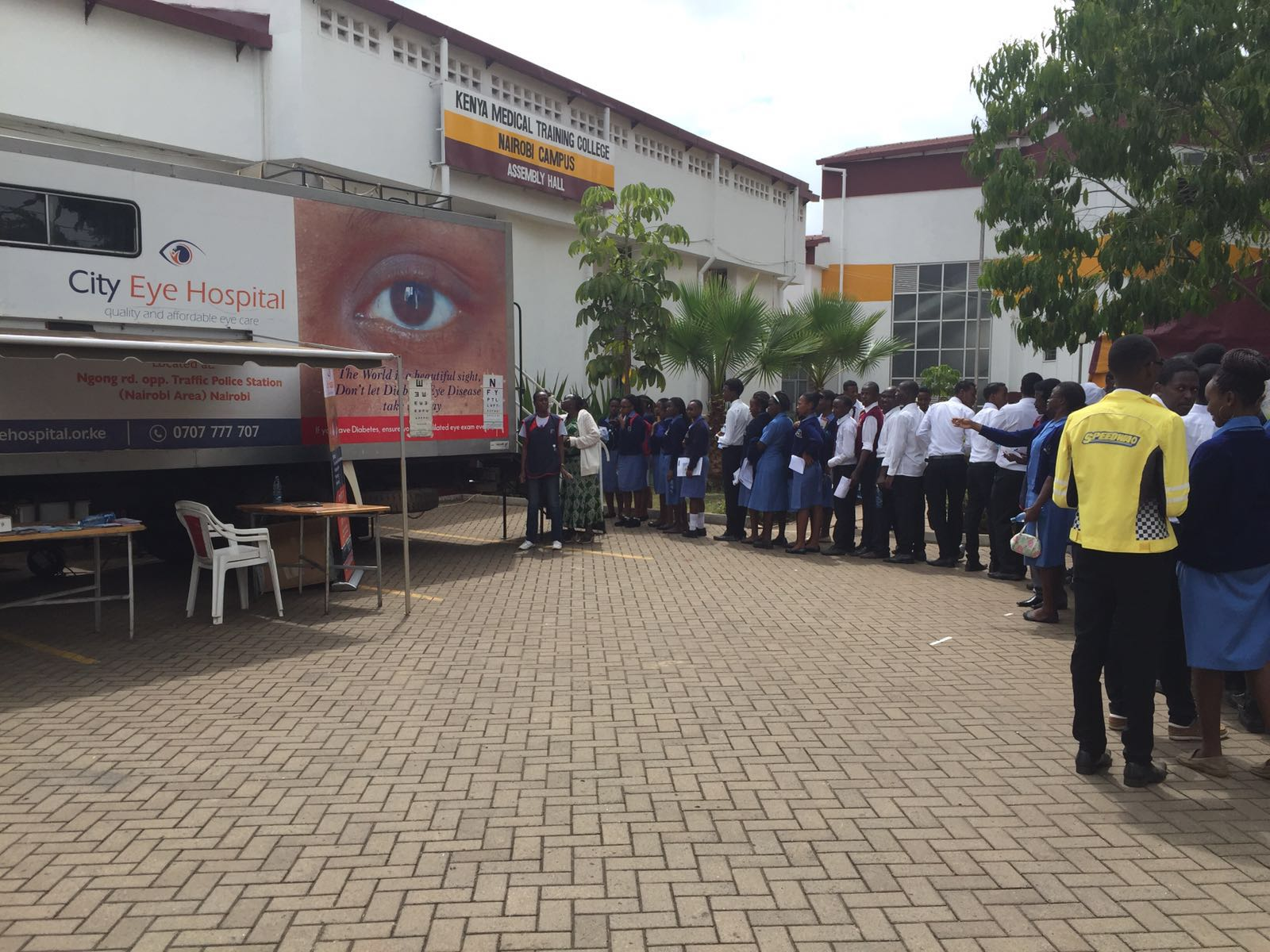 KMTC and City Eye Hospital partner to provide eye care services on World Diabetes Day